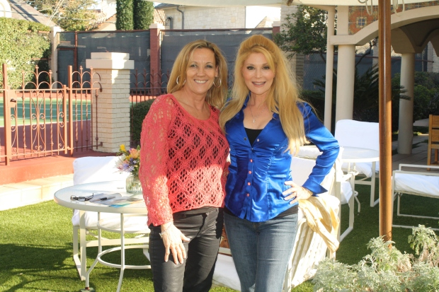 Vickie Dudley with Audrey Landers.