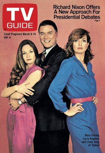 Three's Company: Kristin, J.R. and Sue Ellen in 1979.
