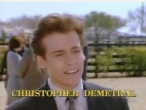 Christopher was played, appropriately enough, by actor Christopher Demetril in the 1996 TV movie Dallas: J.R. Returns